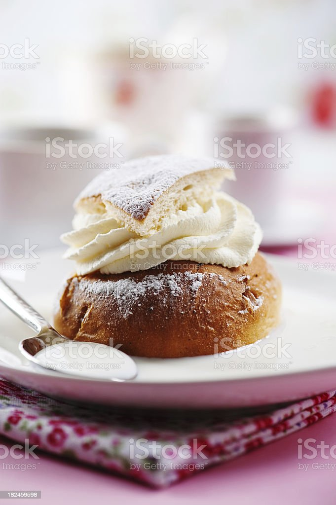Semla royalty-free stock photo