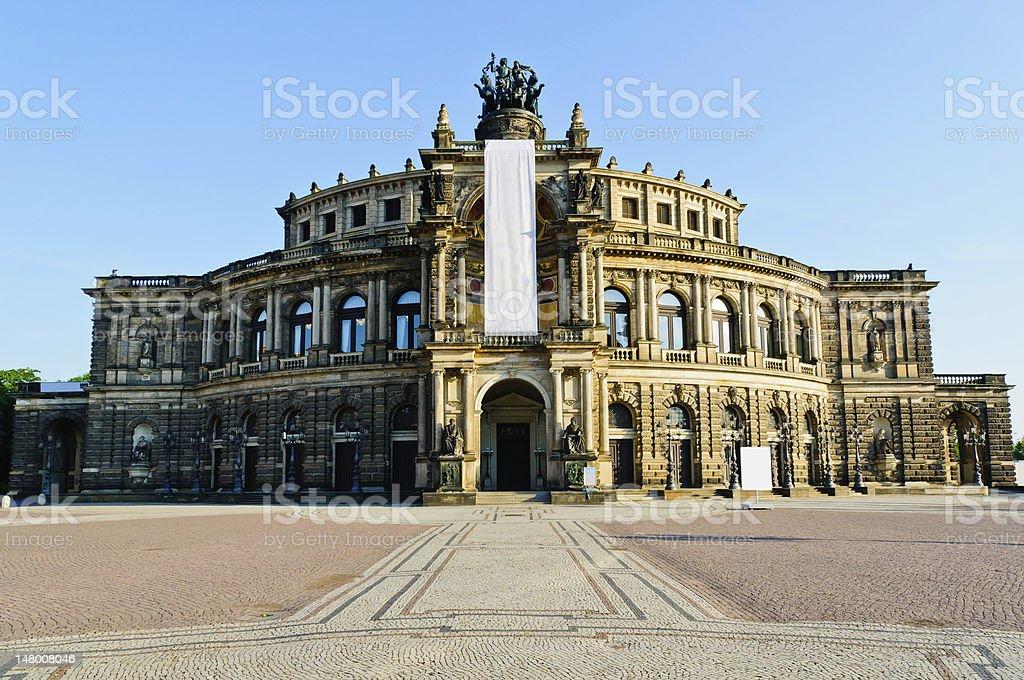 semper opera house in dresden stock photo