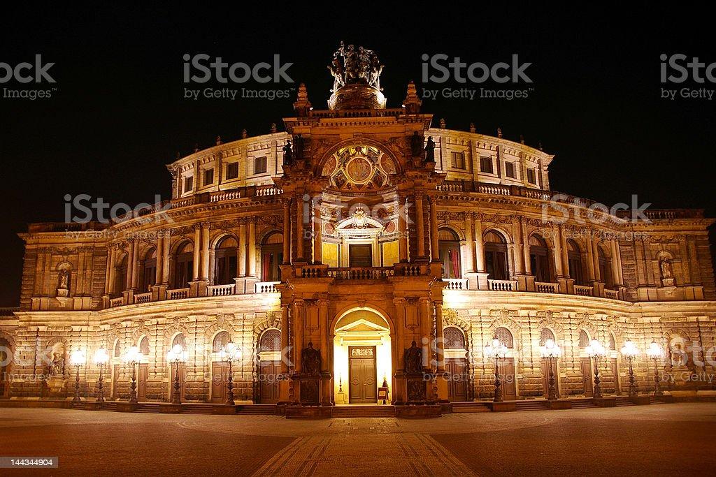 Semper Opera House stock photo