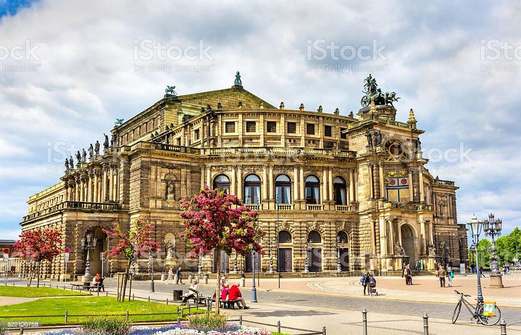 Semperoper, an opera house in Dresden, Saxony stock photo