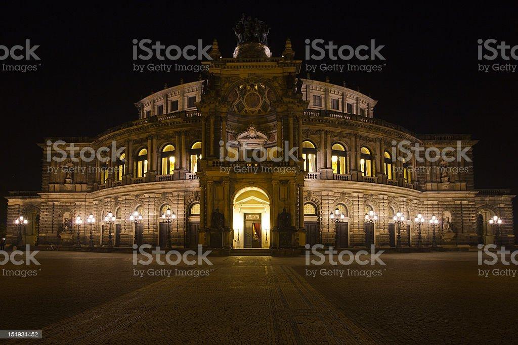Semperoper, Dresden stock photo