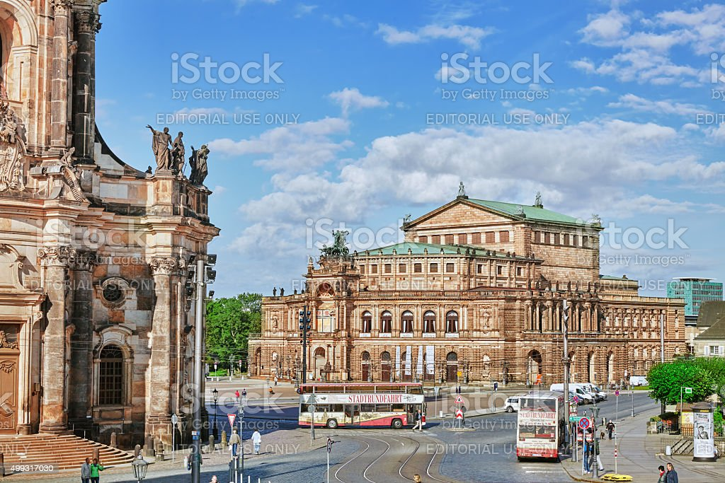 Semperoper is the opera house in Dresden. stock photo
