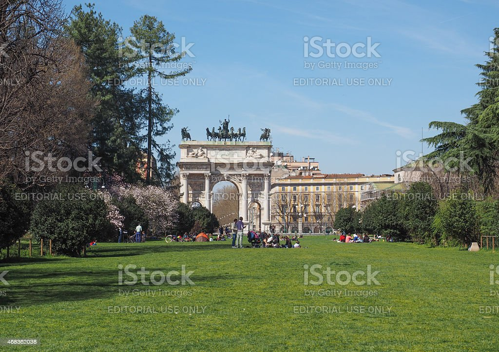 Parco Sempione in Milan royalty-free stock photo