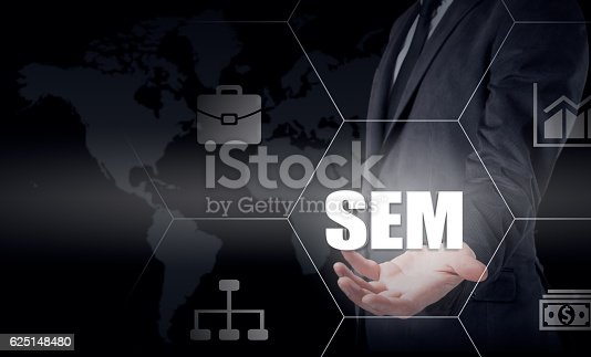 866680594 istock photo SEM-Search Engine Marketing. Business Strategy Concept 625148480