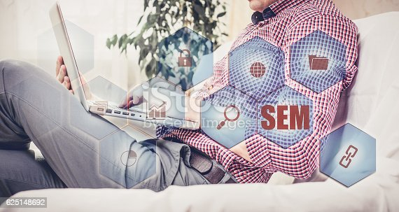 866680594 istock photo SEM-Search Engine Marketing. Business Strategy Concept 625148692