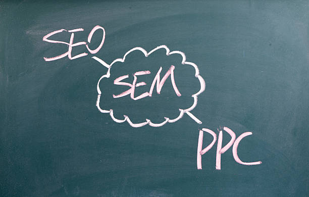 SEM,search engine marketing,seo,ppc written on blackboard SEM,search engine marketing,seo,ppc written on blackboard sem stock pictures, royalty-free photos & images
