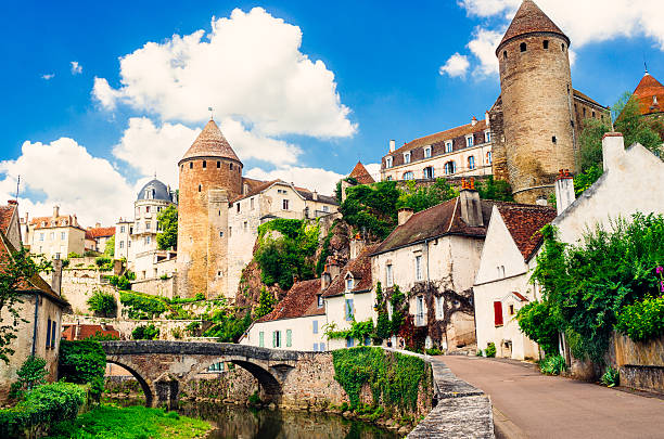 Semur-en-Auxois, Burgundy, France stock photo