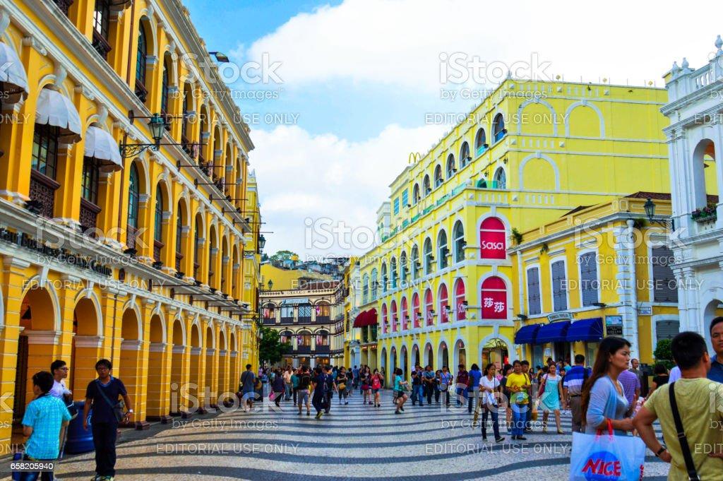 Senado Square of Macau. stock photo