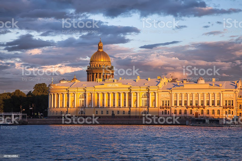 Senate and Synod building, Saint Isaac's Cathedral, St. Petersbu stock photo