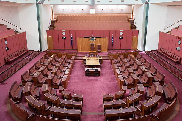 Senate Australian Parliament stock photo