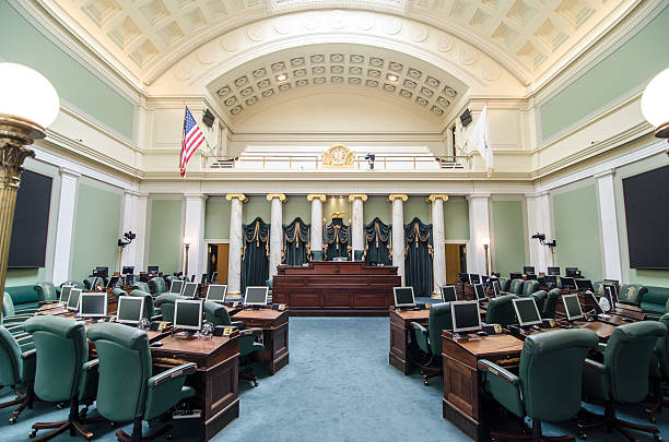 Senate chamber in Providence State House – Foto