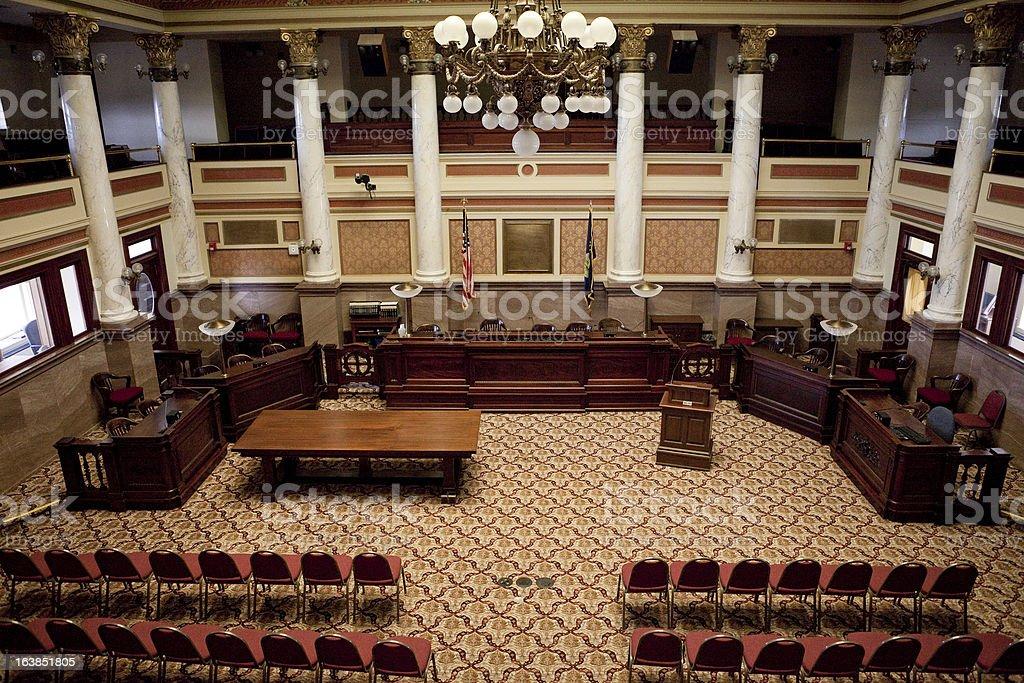 Senate Chamber Montana State Capitol stock photo