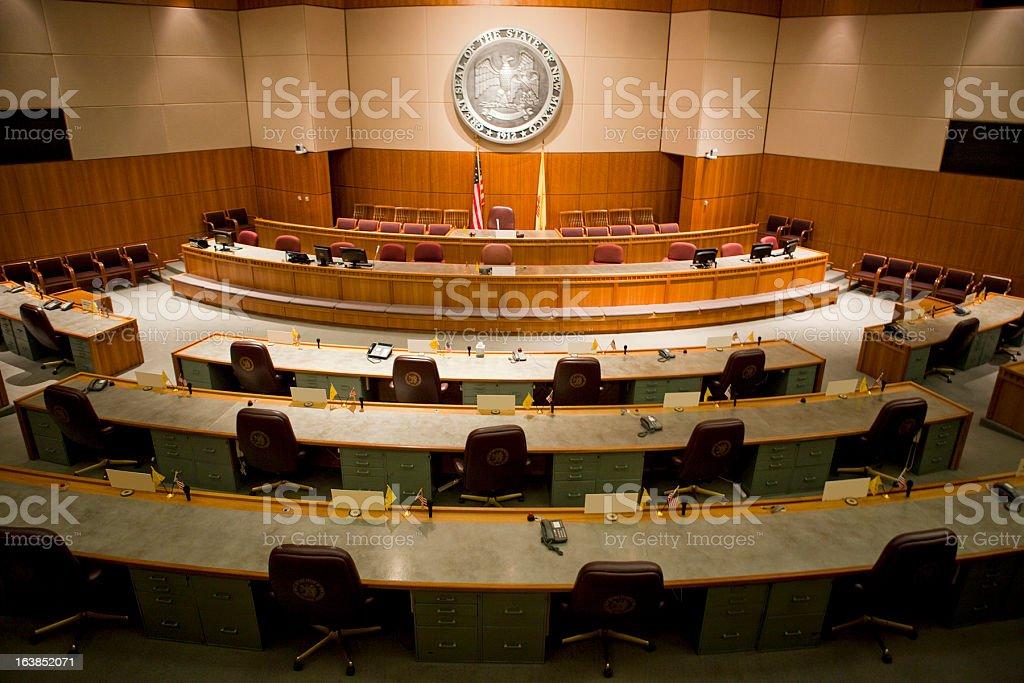 Senate Chamber New Mexico State Capitol stock photo