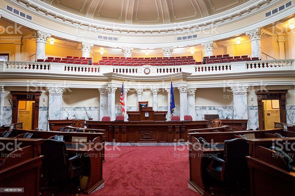 Senate Chamber Of The Idaho State Capitol Stock Photo ...