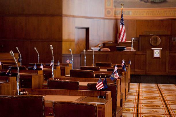 Senate Chamber Oregon State Capitol stock photo