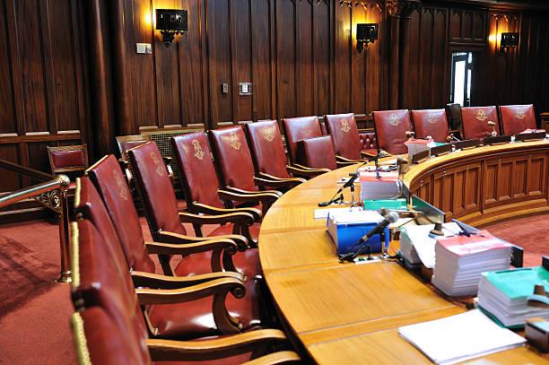 Senate Chamber stock photo