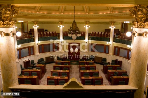 Senate Chamber of the South Dakota state capitol building in Pierre, SD.
