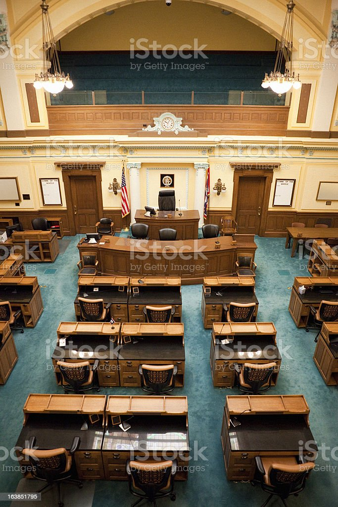 Senate Chamber Wyoming State Capitol royalty-free stock photo