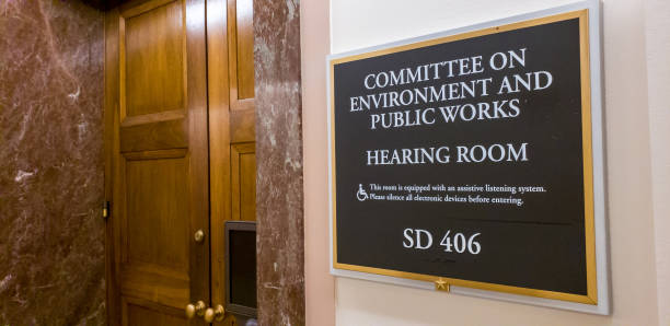 U.S. Senate Committee on Environment and Public Works in the Dirksen Office Building in Washington, DC U.S. Senate Committee on Environment and Public Works in the Dirksen Office Building in Washington DC foreign affairs stock pictures, royalty-free photos & images