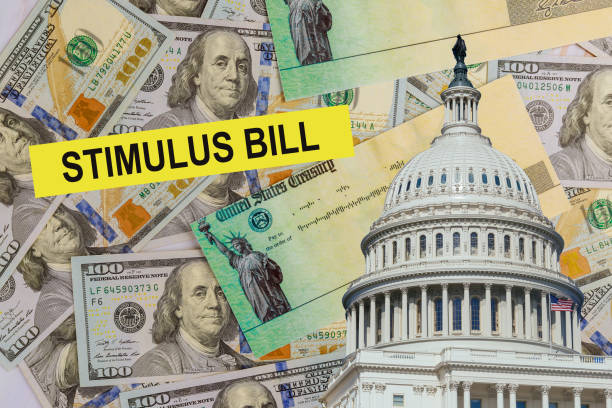 Senate government stimulus financial assistance to Word COVID-19 on global pandemic lockdown package relief package Stimulus package relief financial government assistance to Word COVID-19 on global pandemic lockdown stimulus check stock pictures, royalty-free photos & images