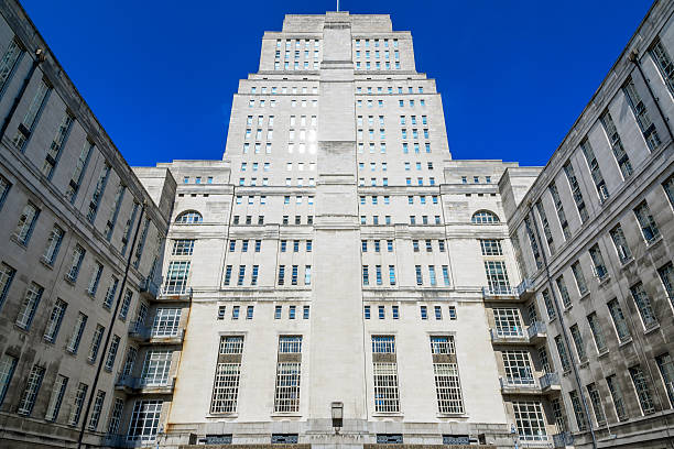 Senate House Library in London stock photo