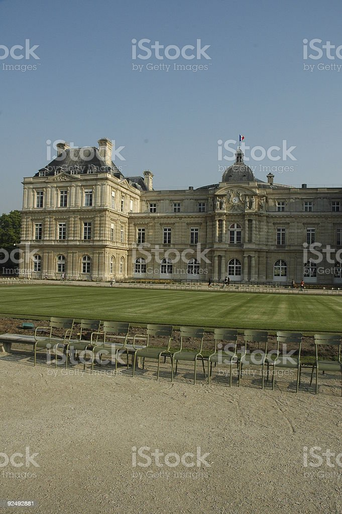 Senate, Luxembourg Gardens, Paris, France. royalty-free stock photo