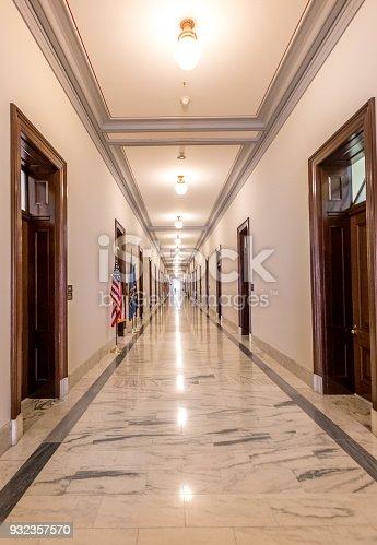U.S. Senate Russell Office Building Hallway in Washington DC