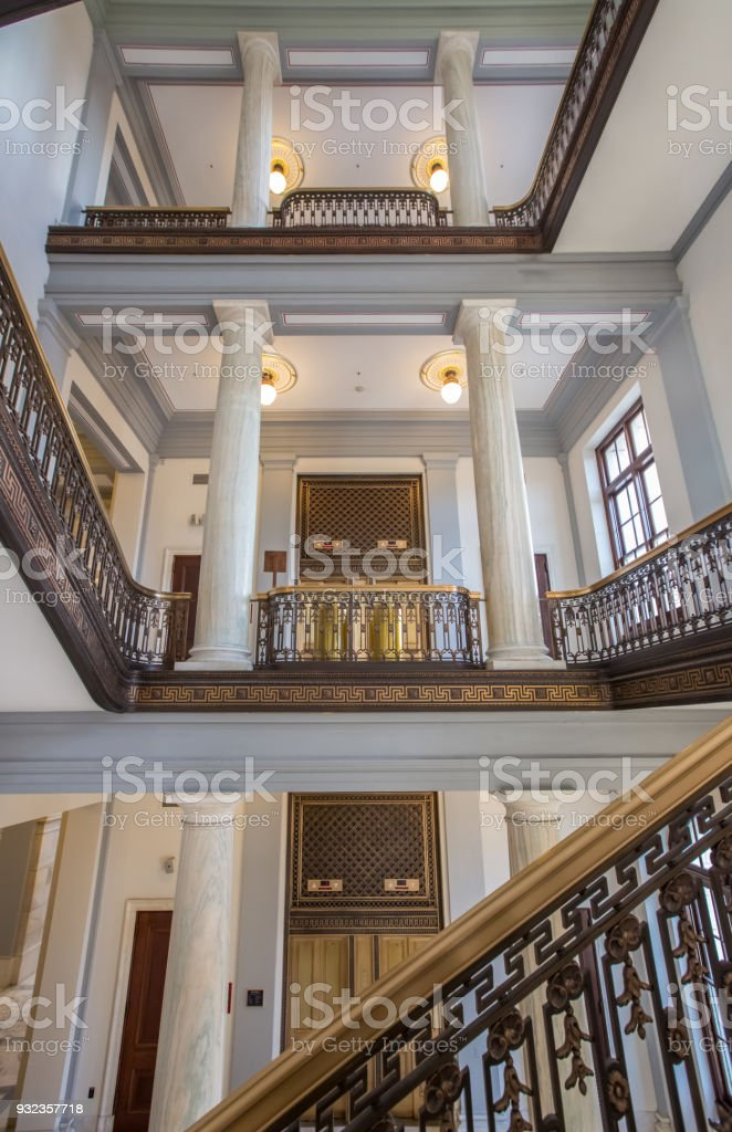 U.S. Senate Russell Office Building Staircase And Elevator In Washington,  DC Royalty Free Stock