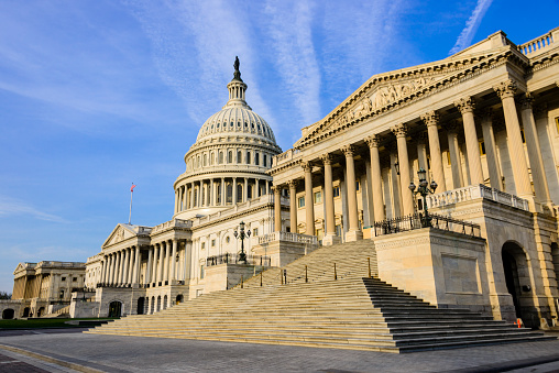 Xxxl Senate Wing Of The United States Capitol Building Stock Photo - Download Image Now