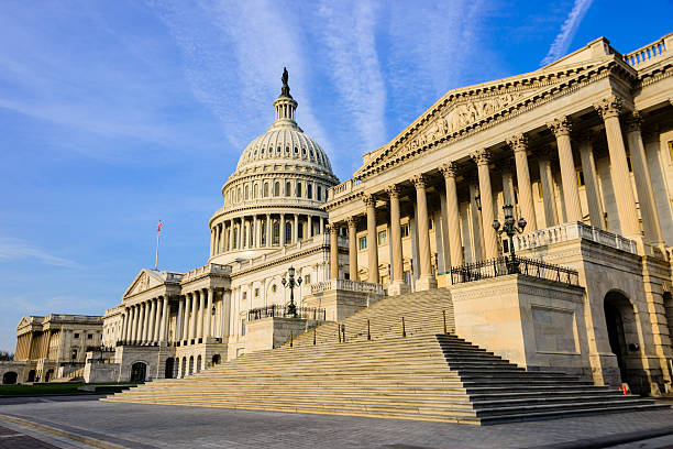 XXXL: Senate wing of the United States Capitol building. stock photo