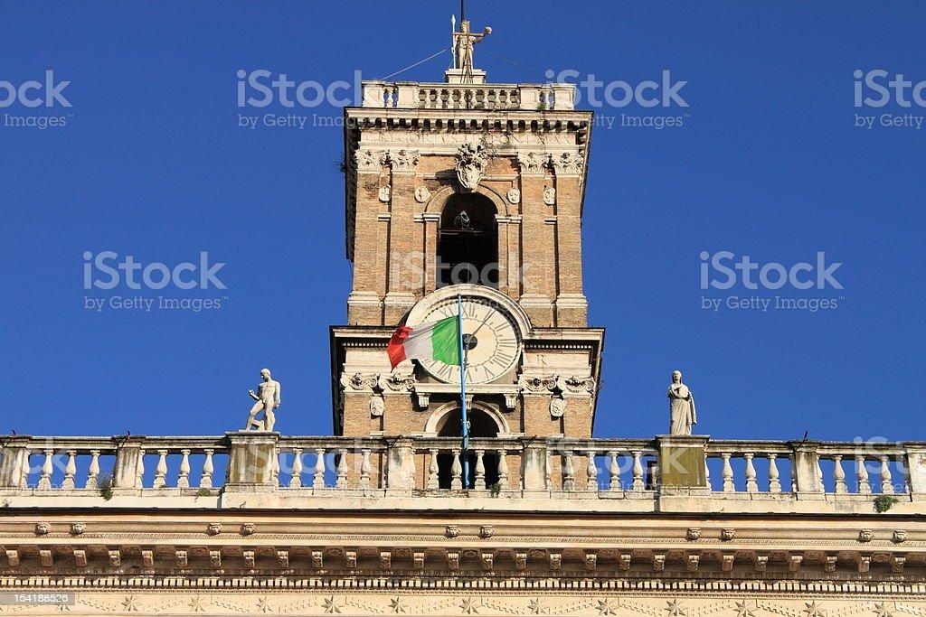 Senatorio Palace in Rome royalty-free stock photo