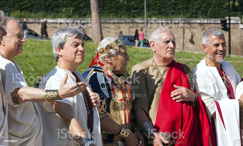 Senators and Julius Caesar stock photo