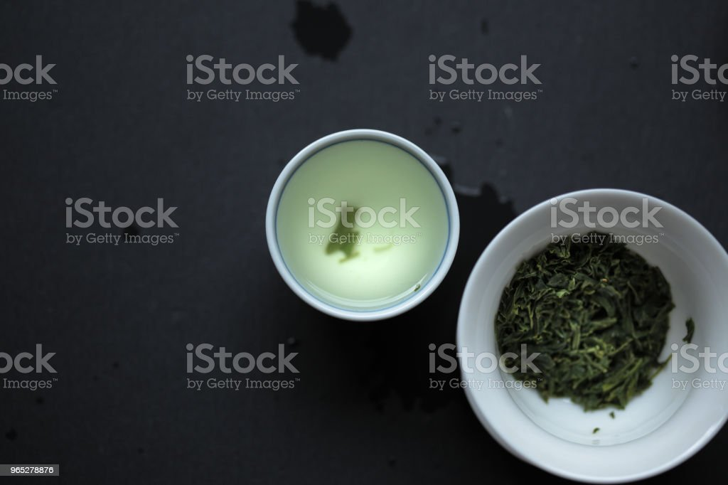 Sencha in a small teacup zbiór zdjęć royalty-free