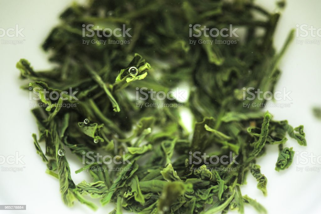 Sencha steeping in a gaiwan teacup zbiór zdjęć royalty-free