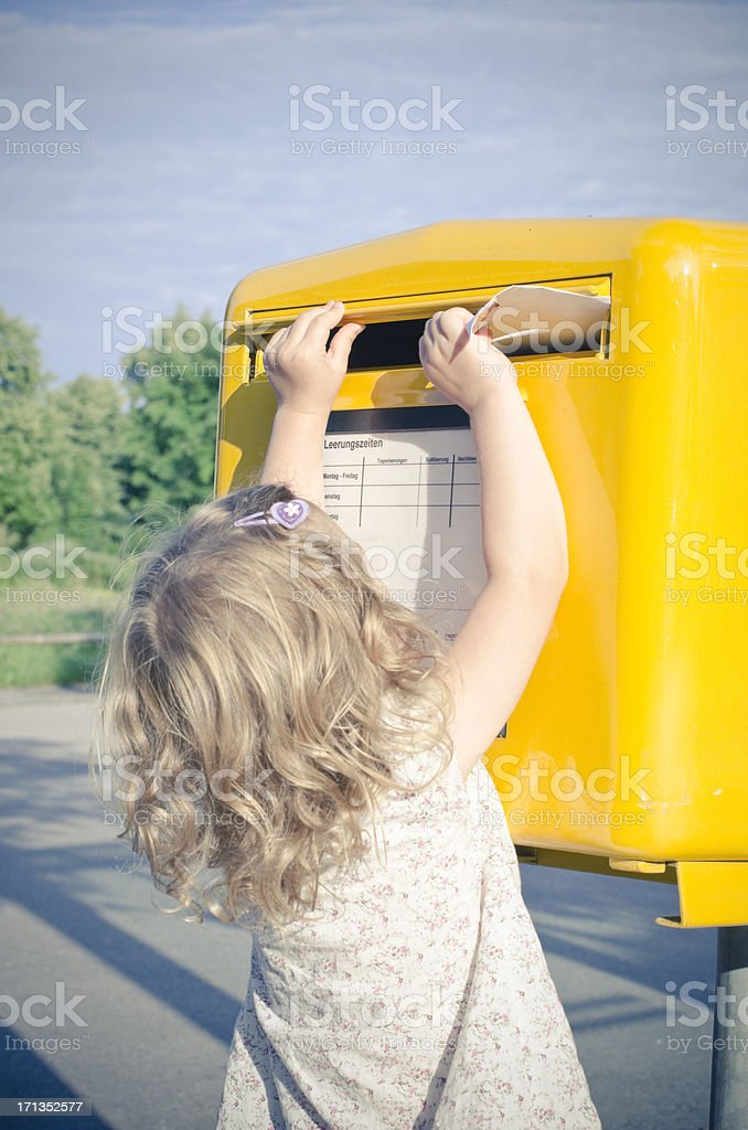 send a letter stock photo