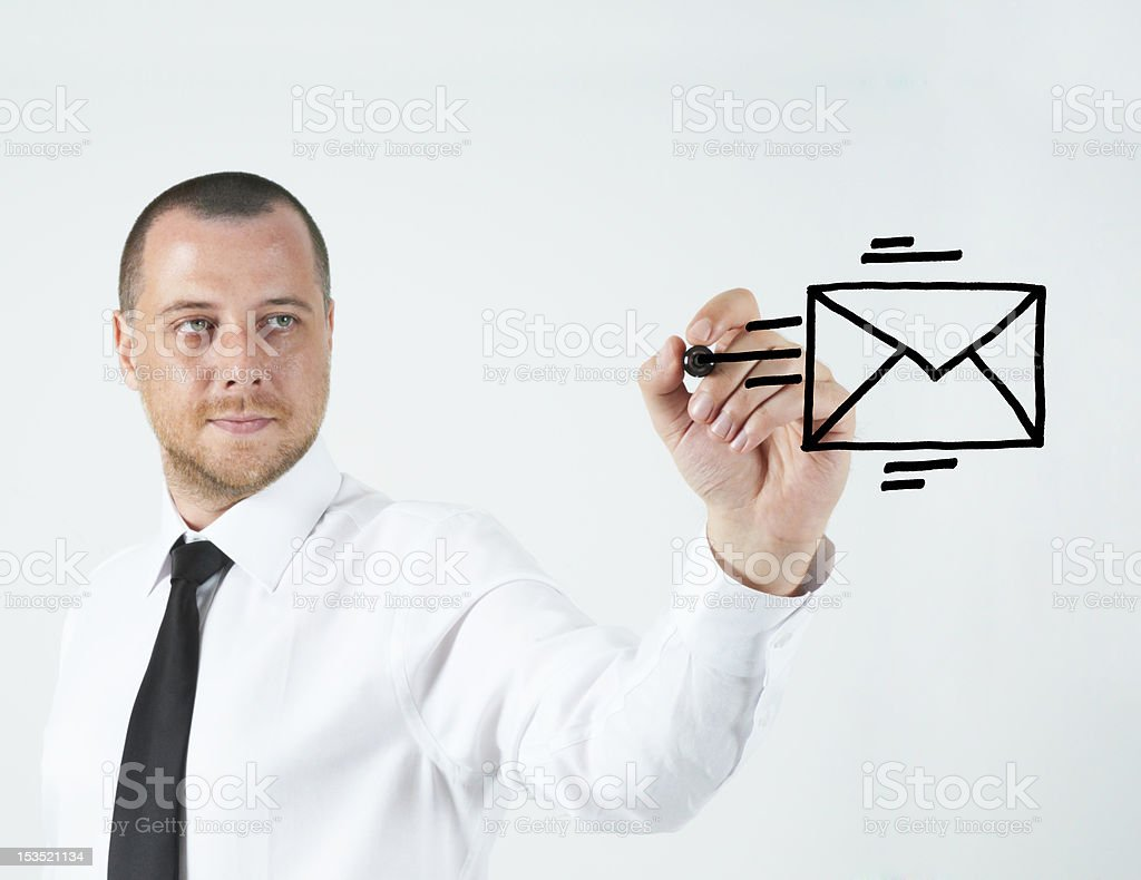 Send e-mail royalty-free stock photo