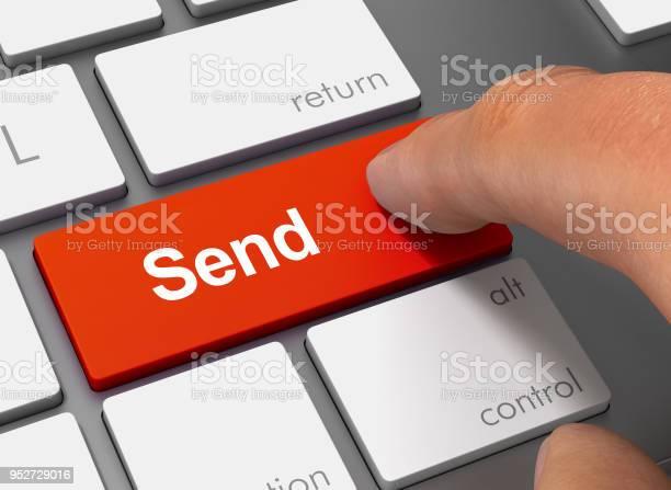 Send pushing keyboard with finger 3d illustration picture id952729016?b=1&k=6&m=952729016&s=612x612&h=cd84hhezfdnbz9nnexyrzb332y0chhi38b9makqcsj8=