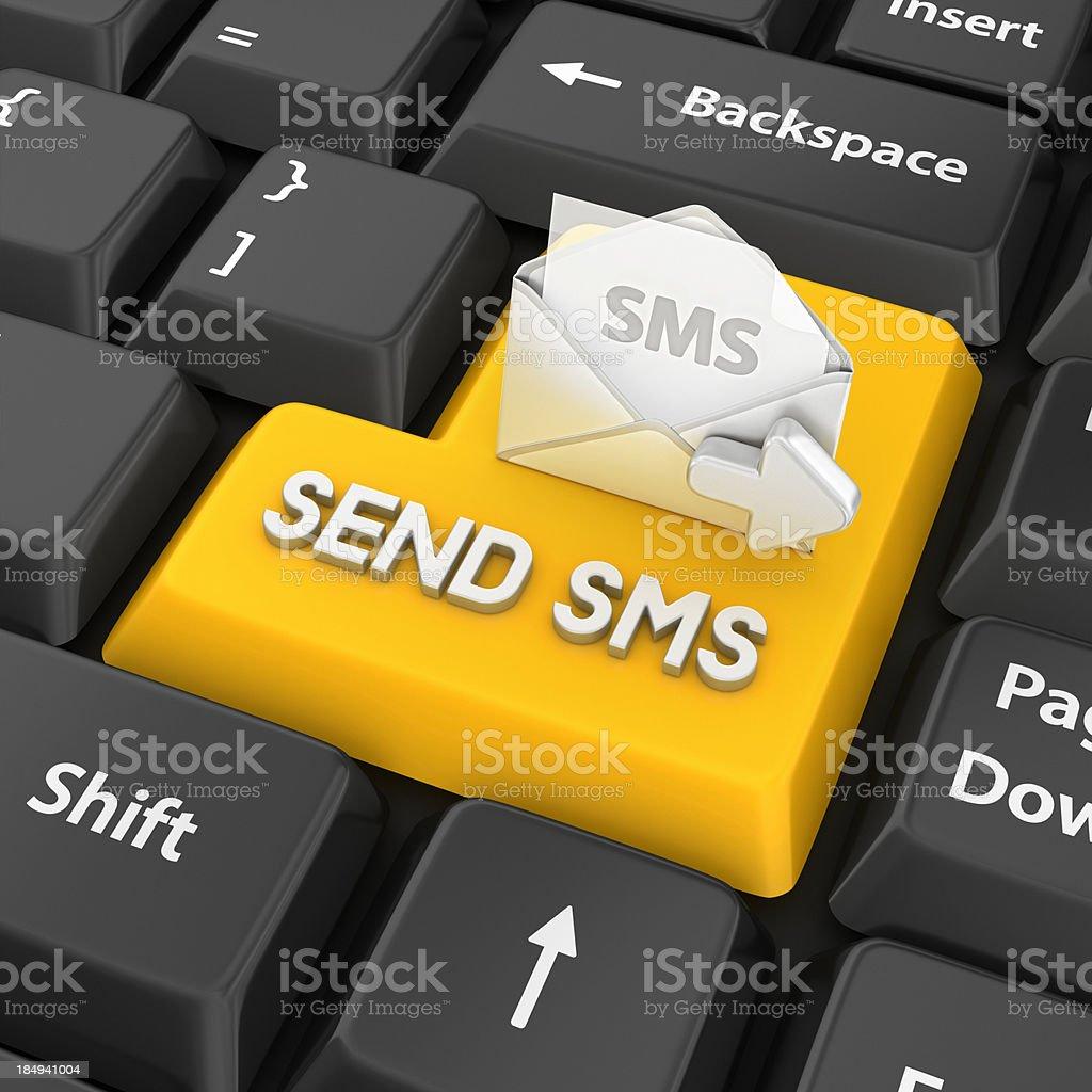 send sms enter key stock photo
