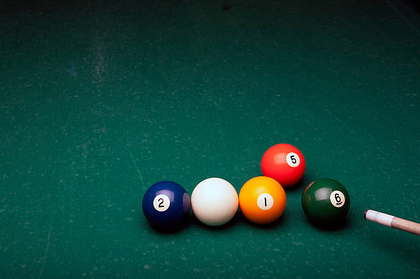 send the 5 number ball with the 6 number ball stock photo
