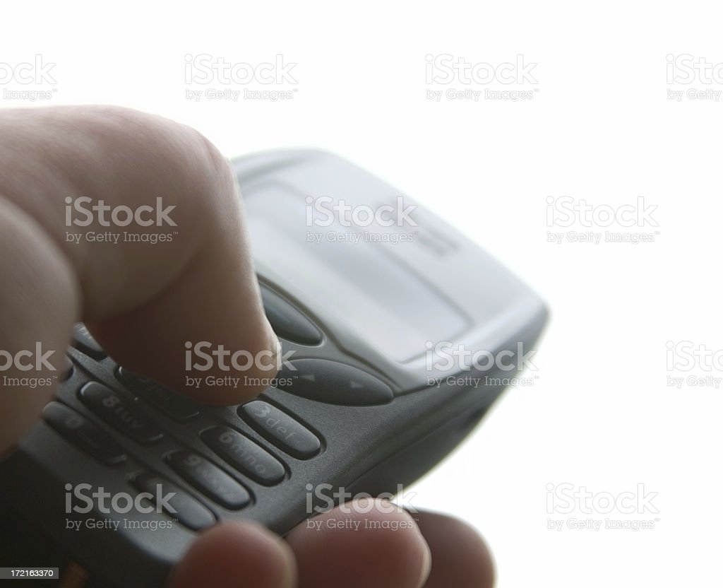 Sending a Message royalty-free stock photo
