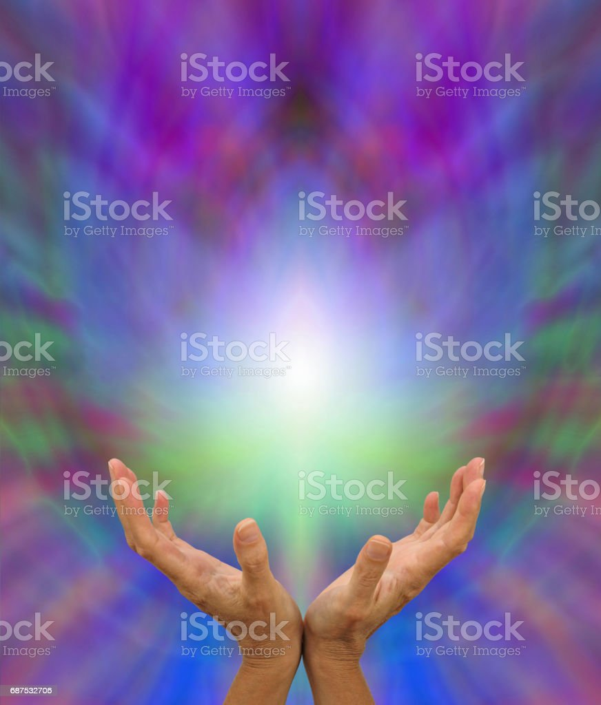 Sending Distant Healing stock photo