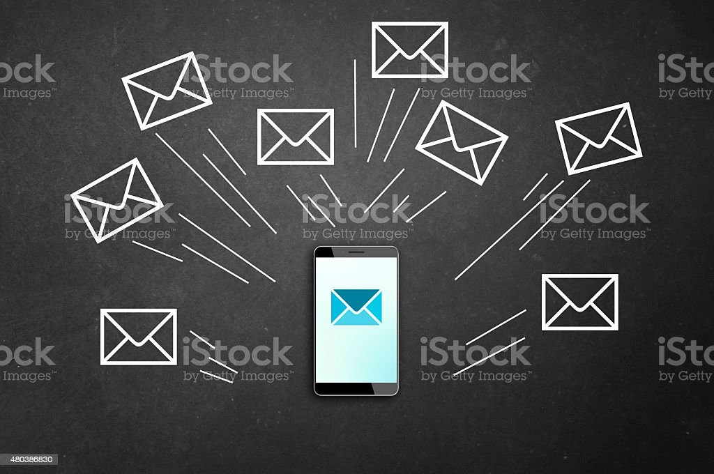 Sending Emails stock photo