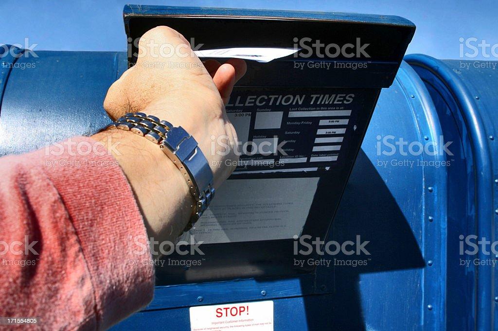 Sending Letter stock photo