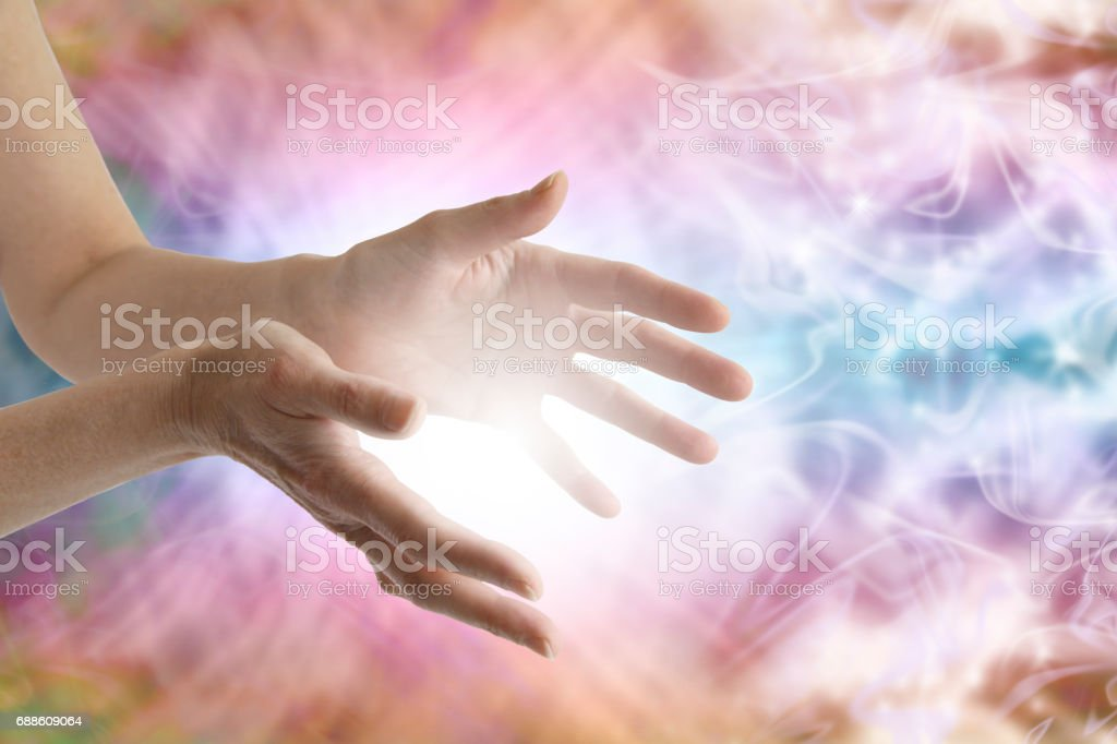 Sending Reiki Healing Energy stock photo