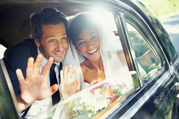 sending them off - nygift bildbanksfoton och bilder