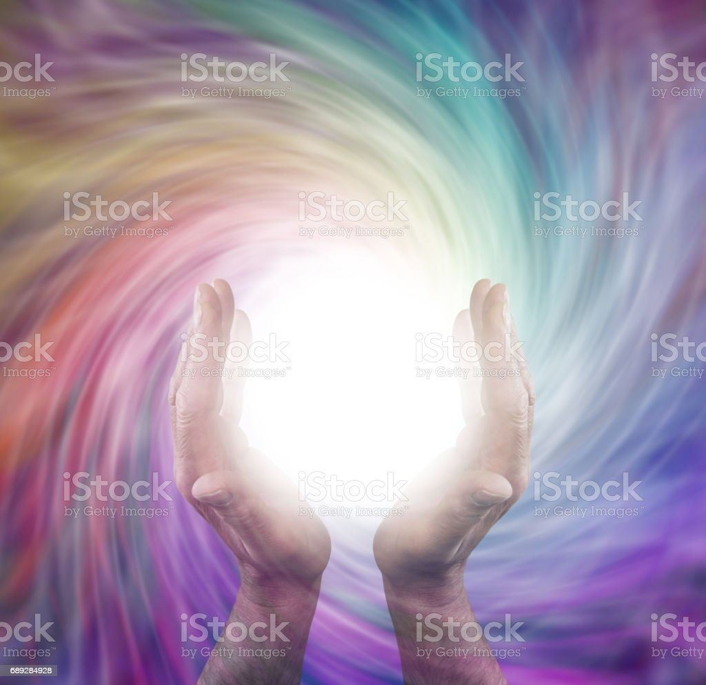Sending Vortex Healing Energy stock photo