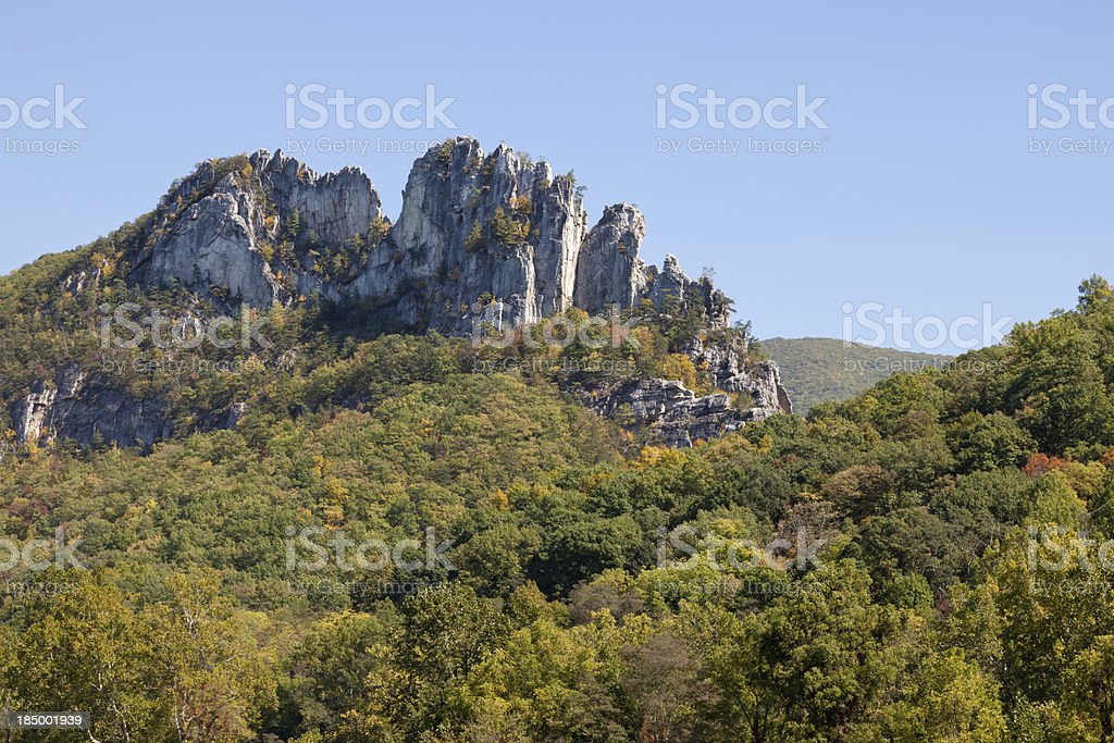 Seneca Rock, West Virginia stock photo