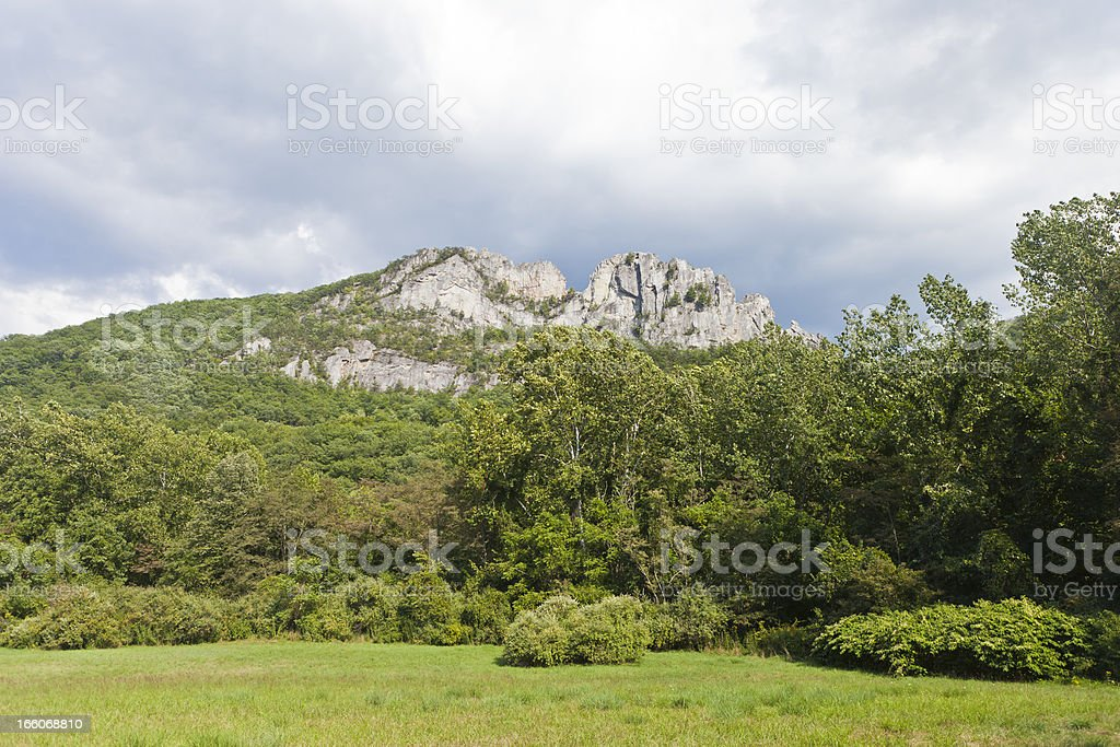 Seneca Rocks In West Virginia, USA stock photo