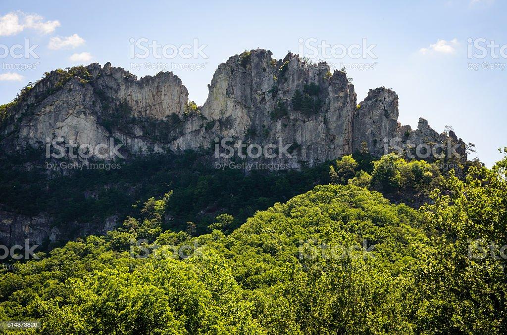 Seneca Rocks stock photo