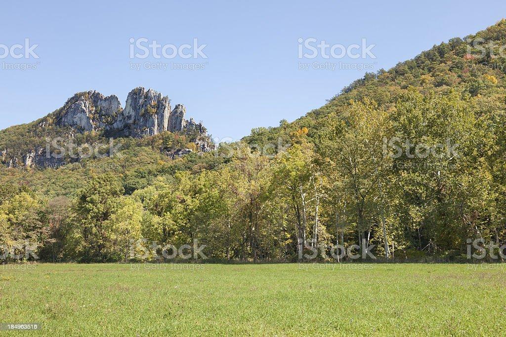 Seneca Rocks View stock photo